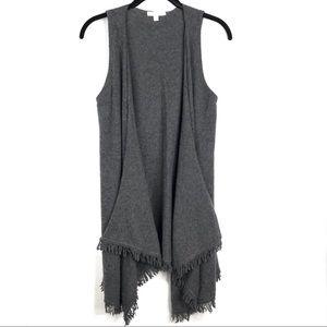 Minnie Rose   Women's 100% Cashmere Long Vest XS